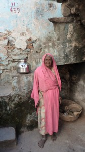 alte Frau in Rajasthan
